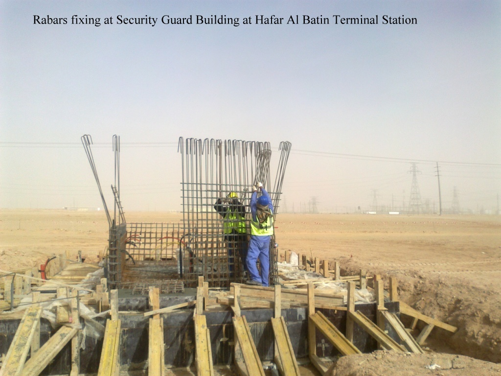 Rebars fixing on security Guard Building at Hafar Al Batin